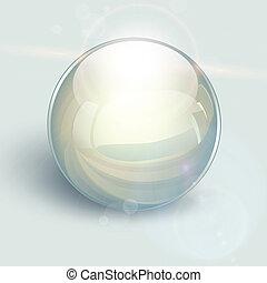 bal, achtergrond, glas