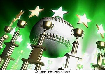 bal, base, winnaar, toewijzen