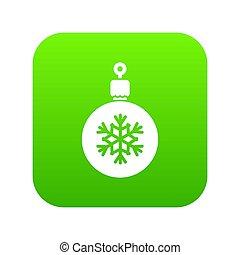 bal, boompje, groene, digitale , kerstmis, pictogram