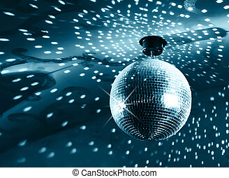 bal, glanzend, disco