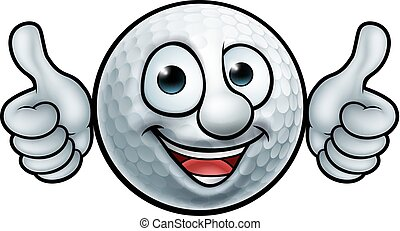 bal, golf, mascotte