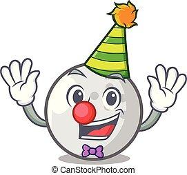 bal, golf, spotprent, clown, mascotte