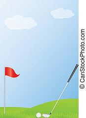 bal, golf, stok