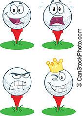 bal, golf tee, .collection
