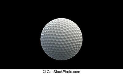 bal, golf, venster, verbreking