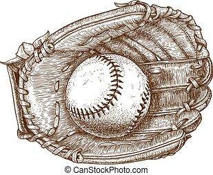 bal, honkbal glove