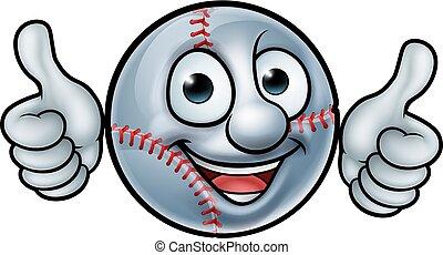 bal, honkbal, mascotte