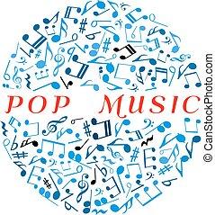 bal, opmerkingen, disco, tekens, symbool, musican