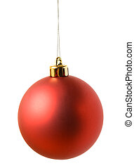bal, rood, cristmas