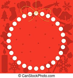 bal, ruimte, red., achtergrond, kopie, kerstmis