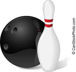 bal, spelden, bowling