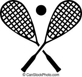 bal, squash, rackets