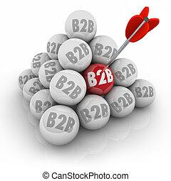 bal, targeting, zakelijk, bedrijven, omzet, piramide, b2b