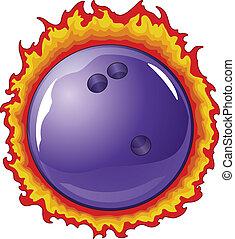 bal, vlammen, bowling