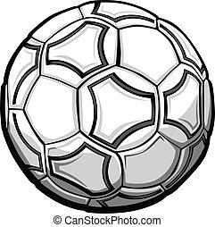 bal, voetbal, grafisch, vector, illustratie