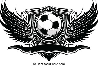 bal, voetbal, sierlijk, grafisch, vector
