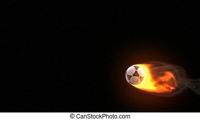 bal, voetbal, vuur