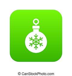 bal, voor, de, kerstboom, pictogram, digitale , groene