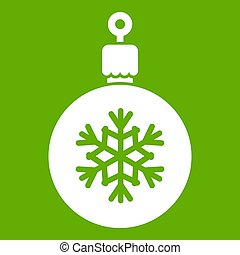 bal, voor, de, kerstboom, pictogram, groene