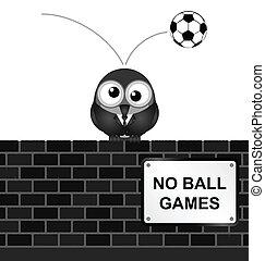 bal wedstrijden, nee