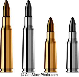 bala, arma, vector, arma de fuego, cartucho