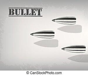 bala, concept., ilustração, vetorial, desenho, fundo