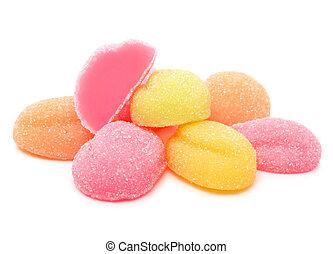 bala doce, geléia, coloridos