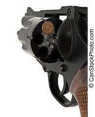 bala, revólver