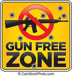 bala, zona, buracos, arma, livre, sinal, rifle crime tentado