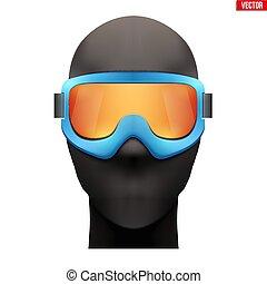 Balaclava ski mask with goggles