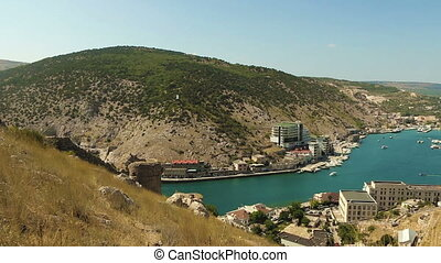 Balaklava Bay - The Bay of Balaklava in Crimea. The beauty...
