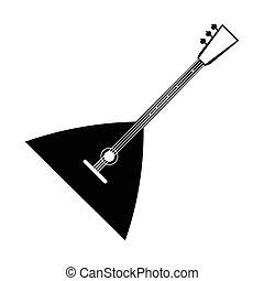 Balalaika black icon isolated on white background