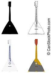 Balalaika Guitar Vector.eps - Balalaika Guitar Vector