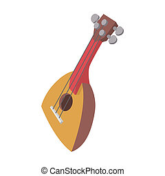 Balalaika icon, cartoon style