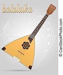 balalaika musical instruments stock vector illustration