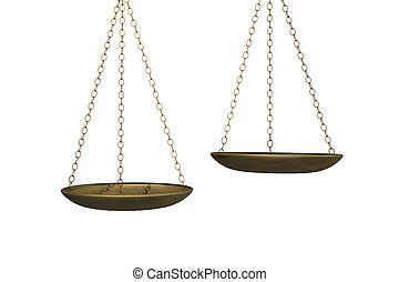 balanças pesando