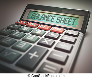 balanço, calculadora