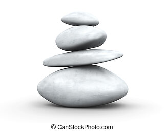 Balance - 3D Illustration. Isolated on white.
