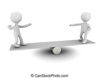 balance 3d person