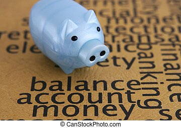 Balance account money concept