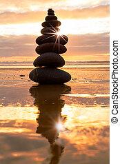 Balance at sunset