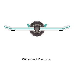 Balance Board Illustration - Monowheel balance board icon....