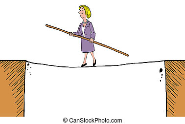 Balance - Business cartoon about the importance of balance...