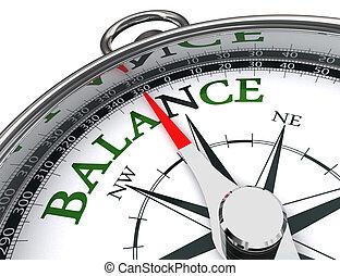 balance compass conceptual image - balance towards north ...