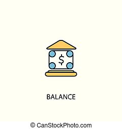 balance concept 2 colored line icon. Simple yellow and blue element illustration. balance concept outline design