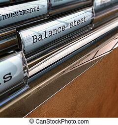 balance, contabilidad, documentos