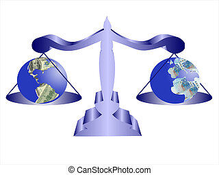 Balance - Illustration balance of continental