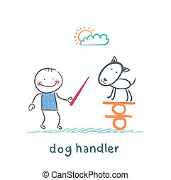 balance, enseña, perro, canino, retener
