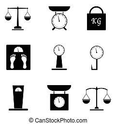Balance icon set