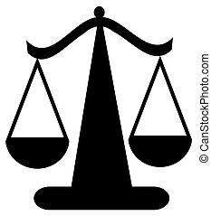 balance justice, équilibrage, ou, balances